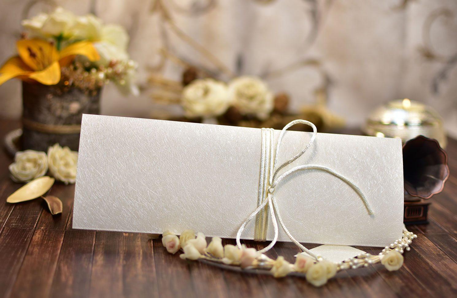 Προσκλητήριο Γάμου Ανάγλυφο Σαμπανιζέ