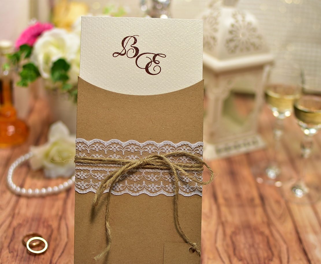 Προσκλητήριο Γάμου Οικολογικό Συρταρωτό