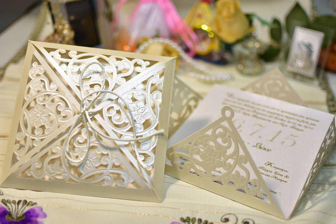 Προσκλητήριο Γάμου Lasercut