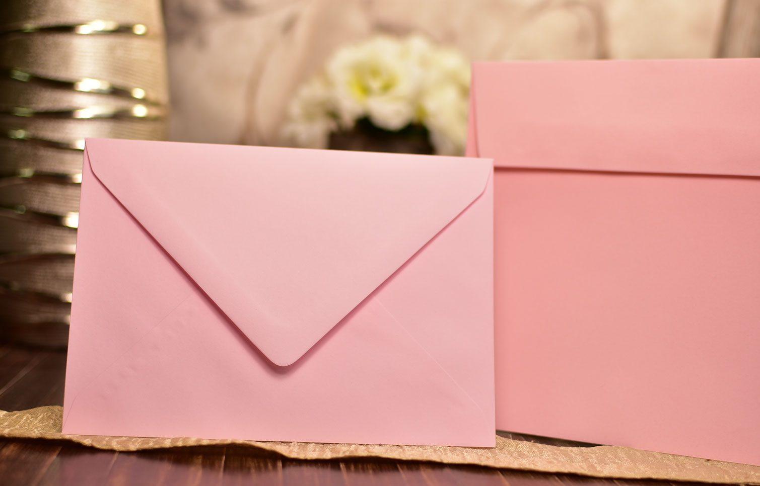 Φάκελος βάπτισης ροζ