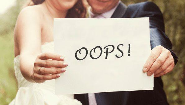 Τα πιο συνηθισμένα λάθη στην οργάνωση του γάμου